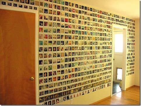 parede de fotos